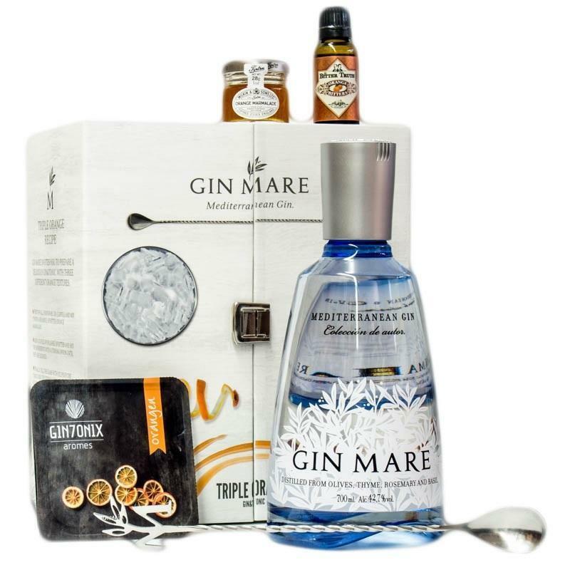 gin mare gin mare pack triple orange gin & tonic in cofanetto regalo 70 cl
