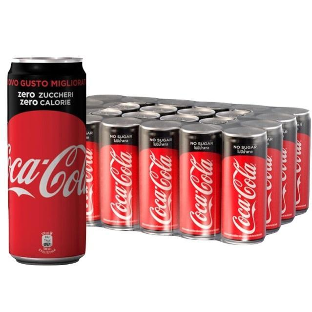 coca cola coca cola zero in lattina 33 cl 24 pz