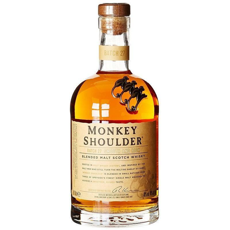 monkey shoulder monkey shoulder batch 27 blended malt scotch whisky  70 cl
