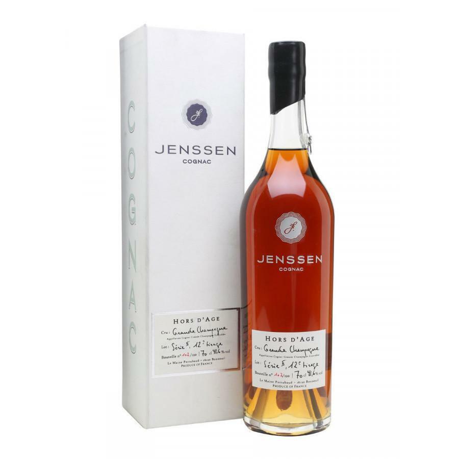 jenssen jenssen cognac 55 years hors d'age single batch 70 cl in astuccio