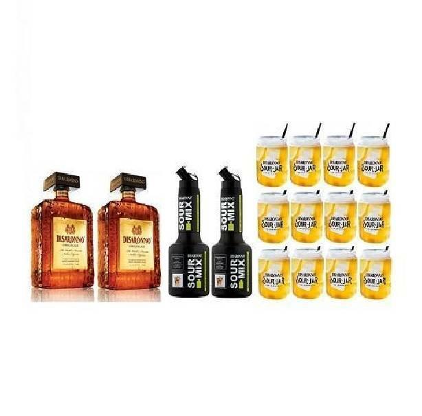 disaronno disaronno amaretto special pack 2 di saronno  1 litro + 2 sour mix +12 bicchieri