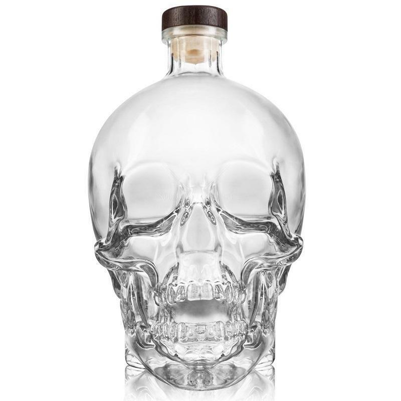 crystal head crystal head vodka 3 litri a forma di teschio in astuccio