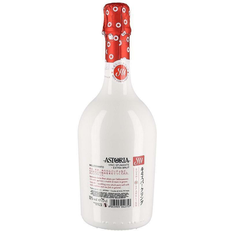 astoria astoria yu sushi sparkling vino spumante millesimato extra brut 75 cl