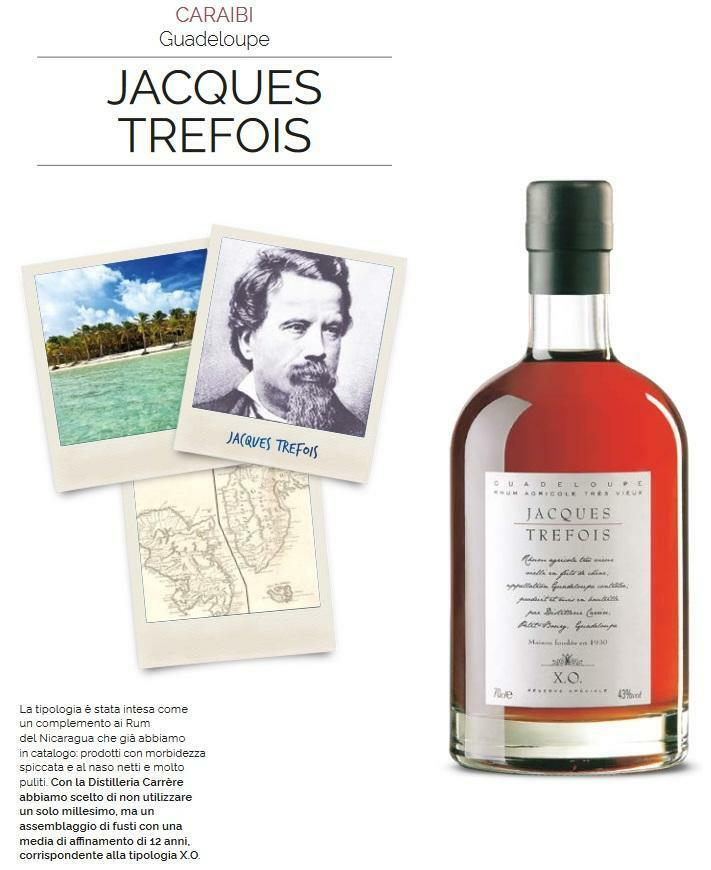 jacques trefois jacques trefois rum xo guadeloupe agricole 70 cl in astuccio