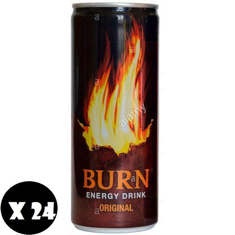 burn burn energy drink original 250 ml (24pz)