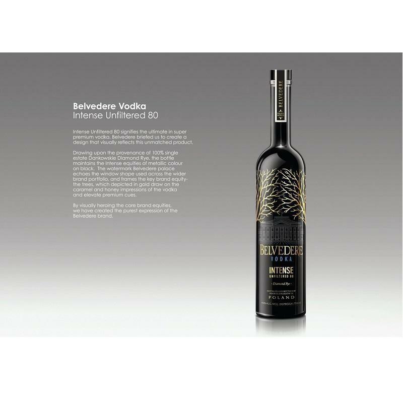 belvedere belvedere vodka black unfiltered rare diamond rye 70 cl