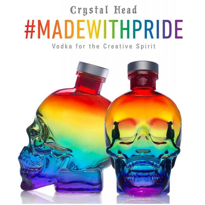 crystal head crystal head pride 70 cl vodka  limited edition