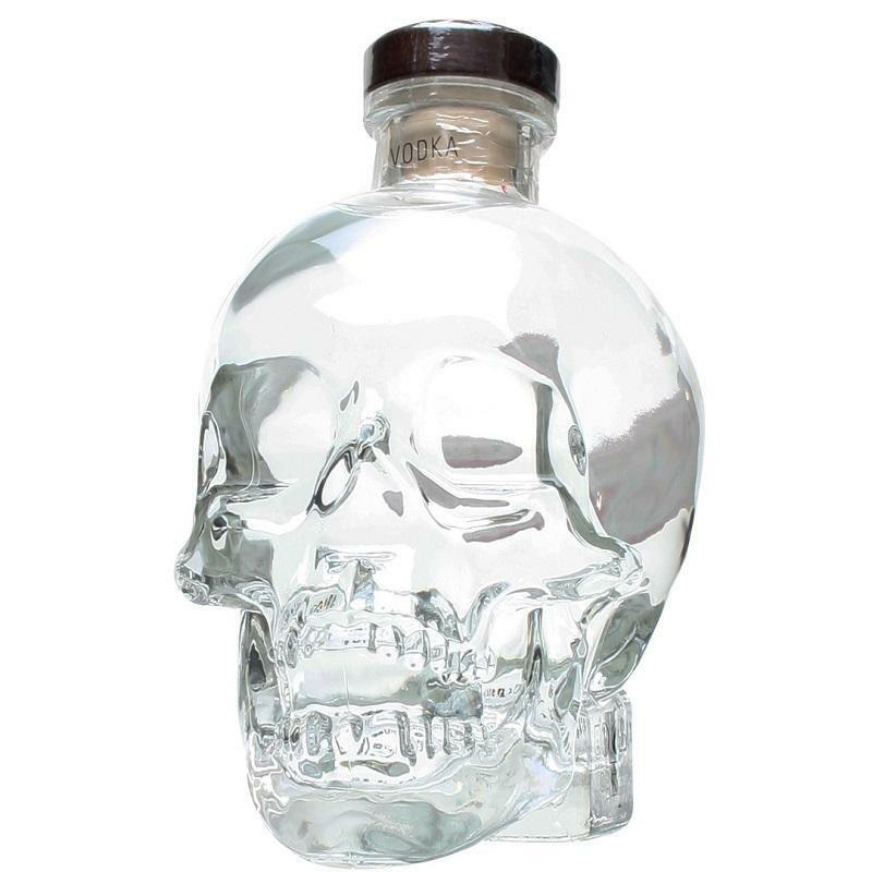 crystal head crystal head vodka bottiglia a forma di teschio1,75 litri in astuccio