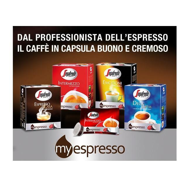 segafredo zanetti segafredo zanetti 60 capsule my espresso casa gusto cremoso
