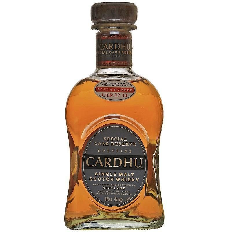 cardhu cardhu single malt scotch whisky stecial cask reserve classic malts & food 70 cl