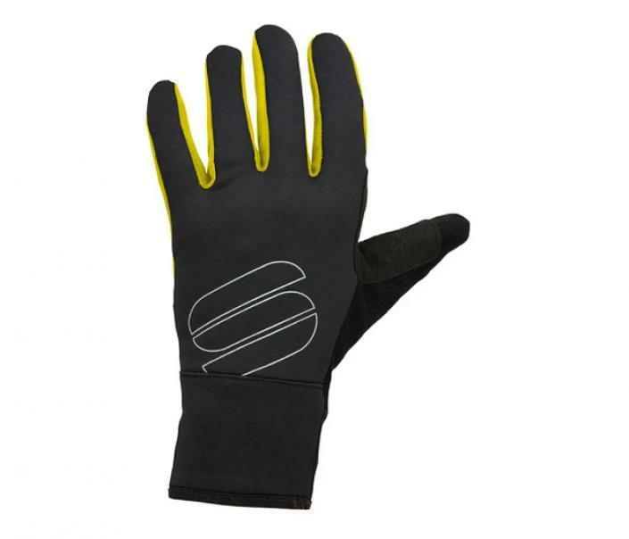 sportful sportful guanti softshell strech nero/giallo