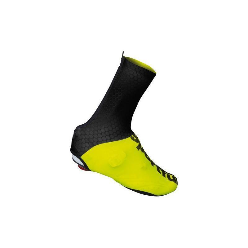 sportful sportful copriscarpa lycra nero/giallo