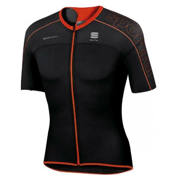 sportful sportful maglia ultralight nero/rosso