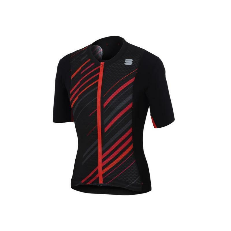 sportful sportful maglia r&d celsius nero/rosso