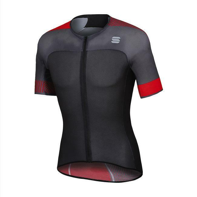 sportful sportful maglia bodyfit pro light nero/rosso