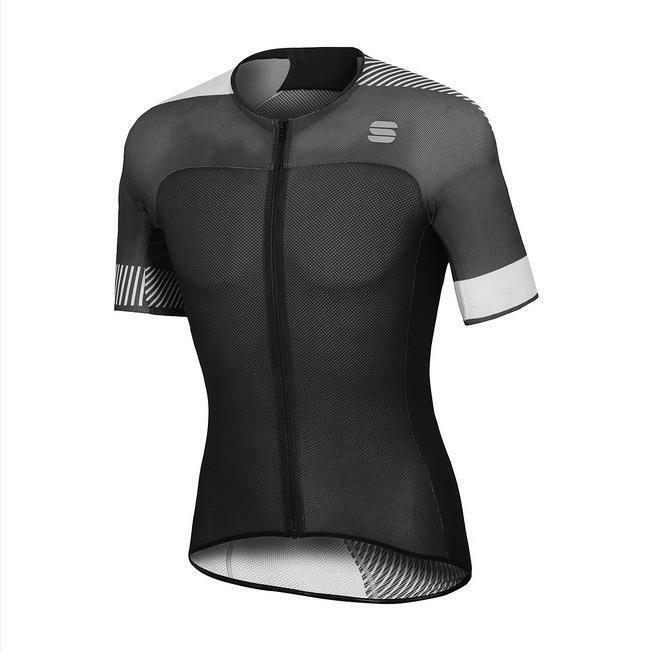 sportful maglia bodyfit pro light nero bianco