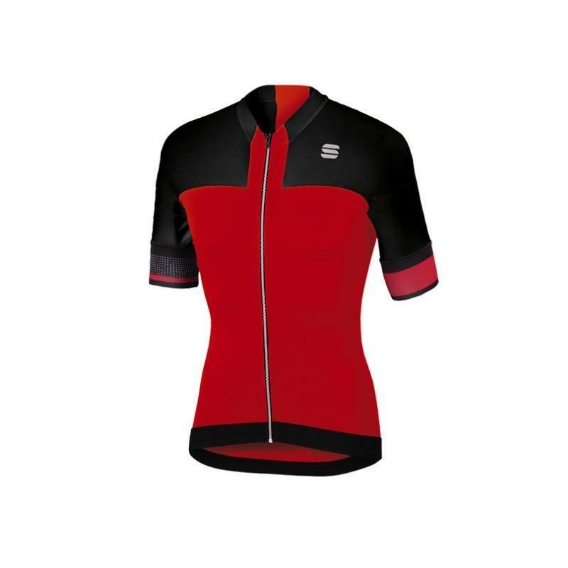 sportful sportful maglia strike rosso/nero