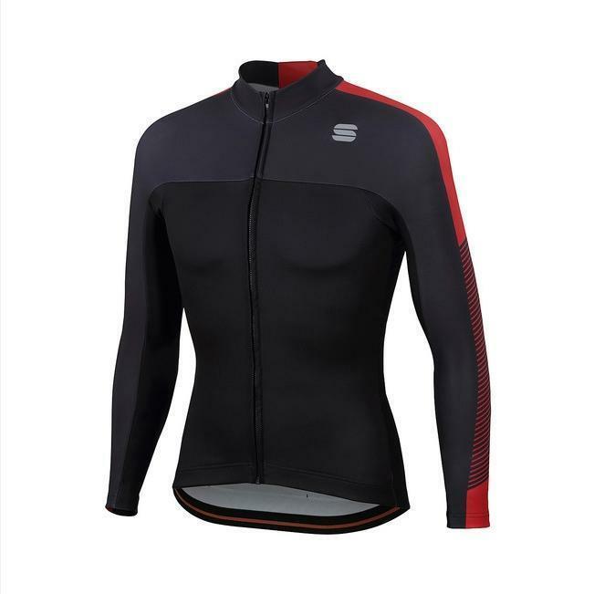 sportful sportful maglia bodyfit thermal nero/rosso