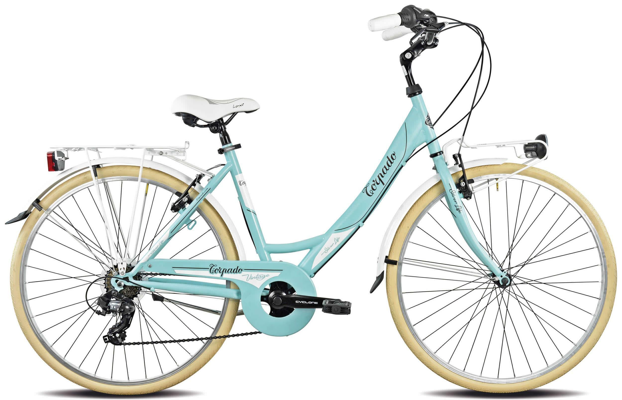 torpado torpado bici passeggio donna silverlife celeste