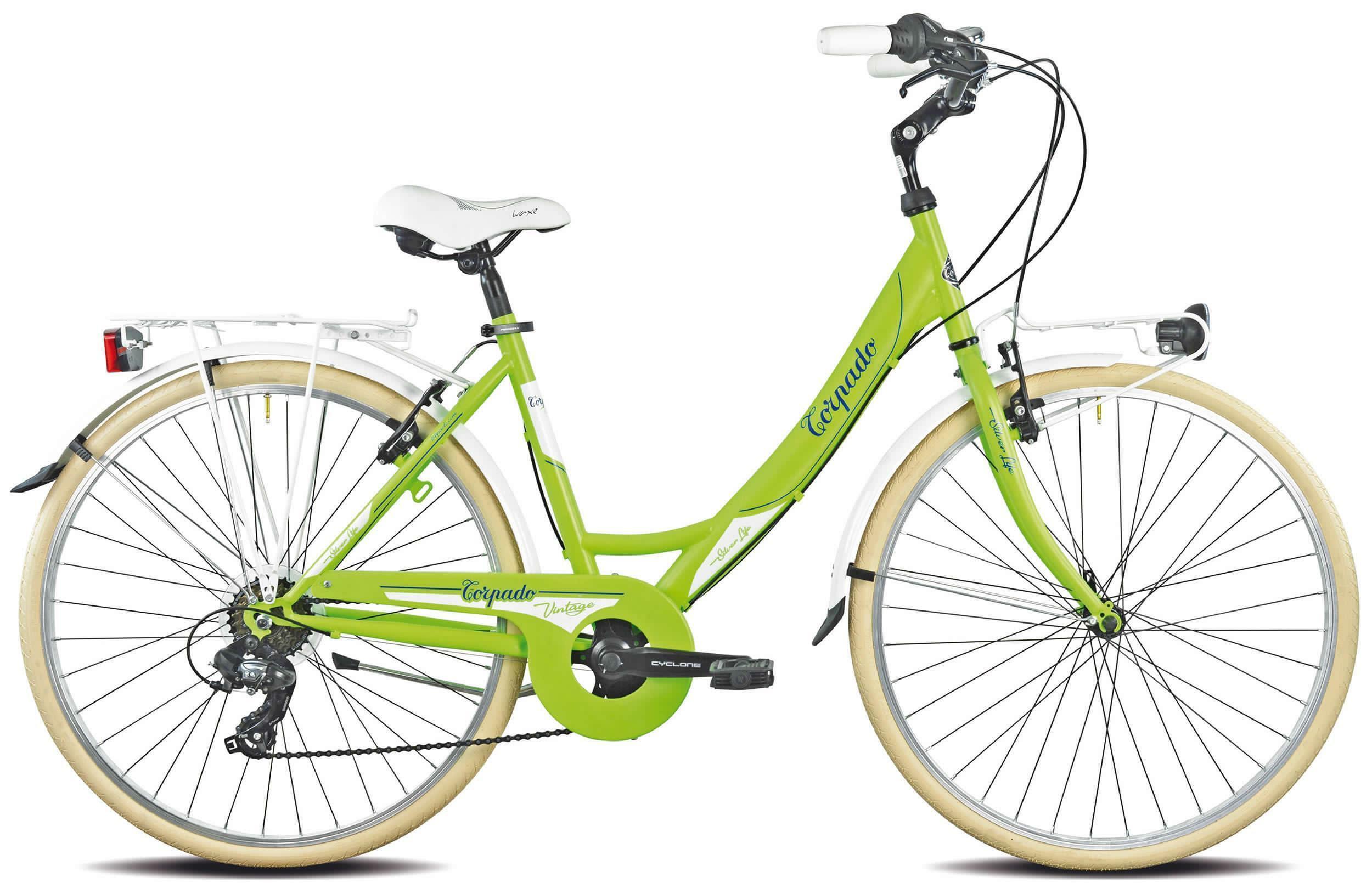 torpado torpado bici passeggio donna silverlife verde