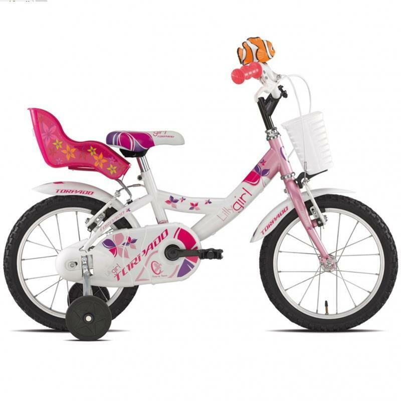 torpado torpado bici bambina lilly biancorosa