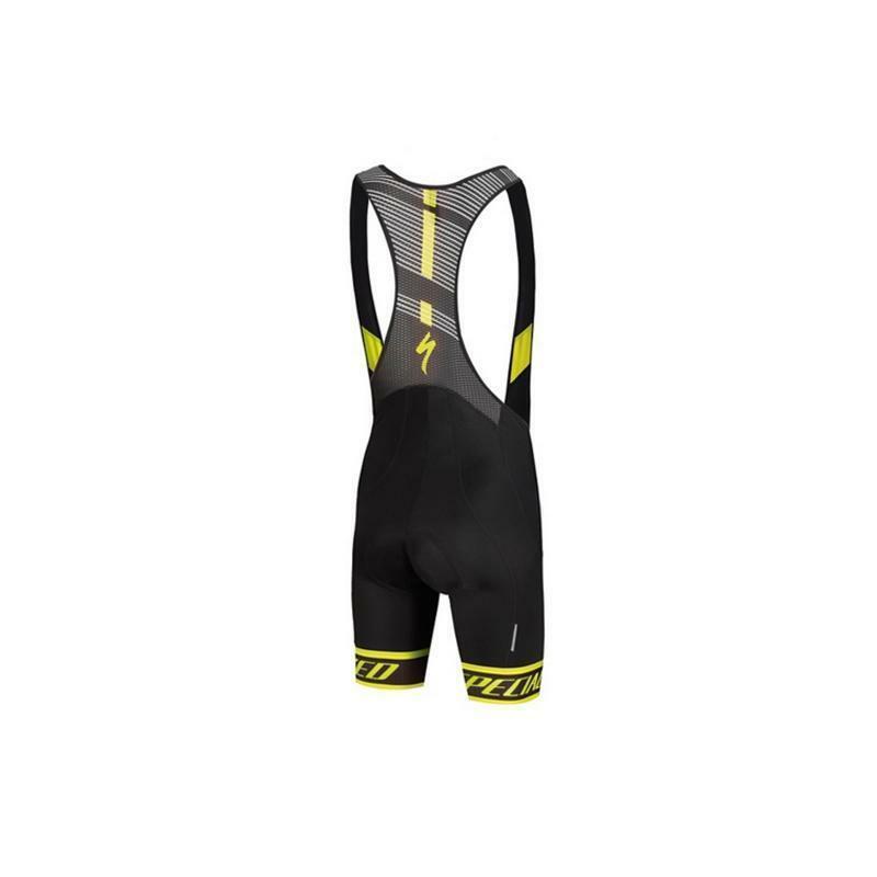 specialized specialized pantaloncini con bretelle sl elite nero/giallo fluo