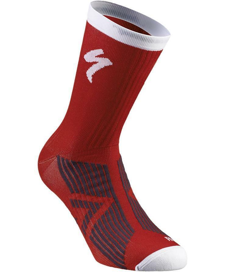 specialized specialized calze sl elite rosso/bianco