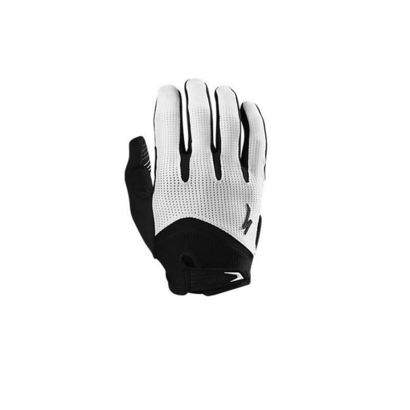 specialized specialized guanto bg gel dita lunghe bianco