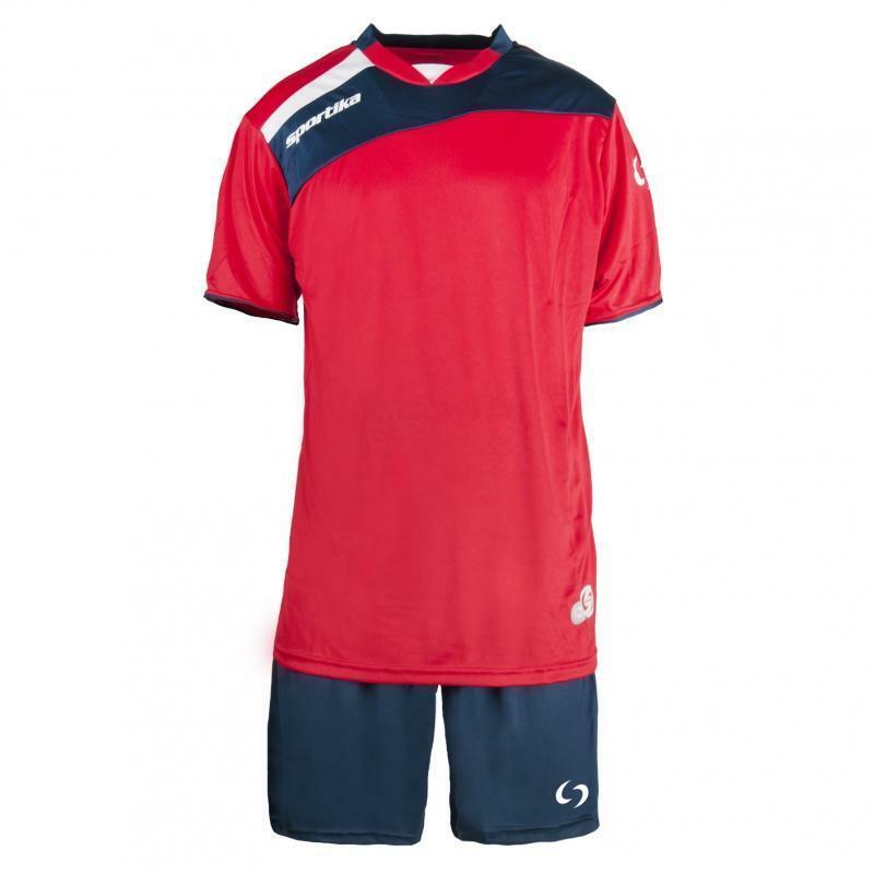 sportika sportika kit calcio amsterdam rosso/blu