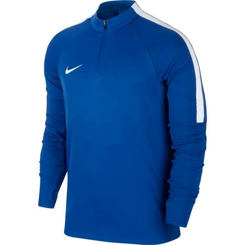 nike nike felpa allenamento squad azzurro