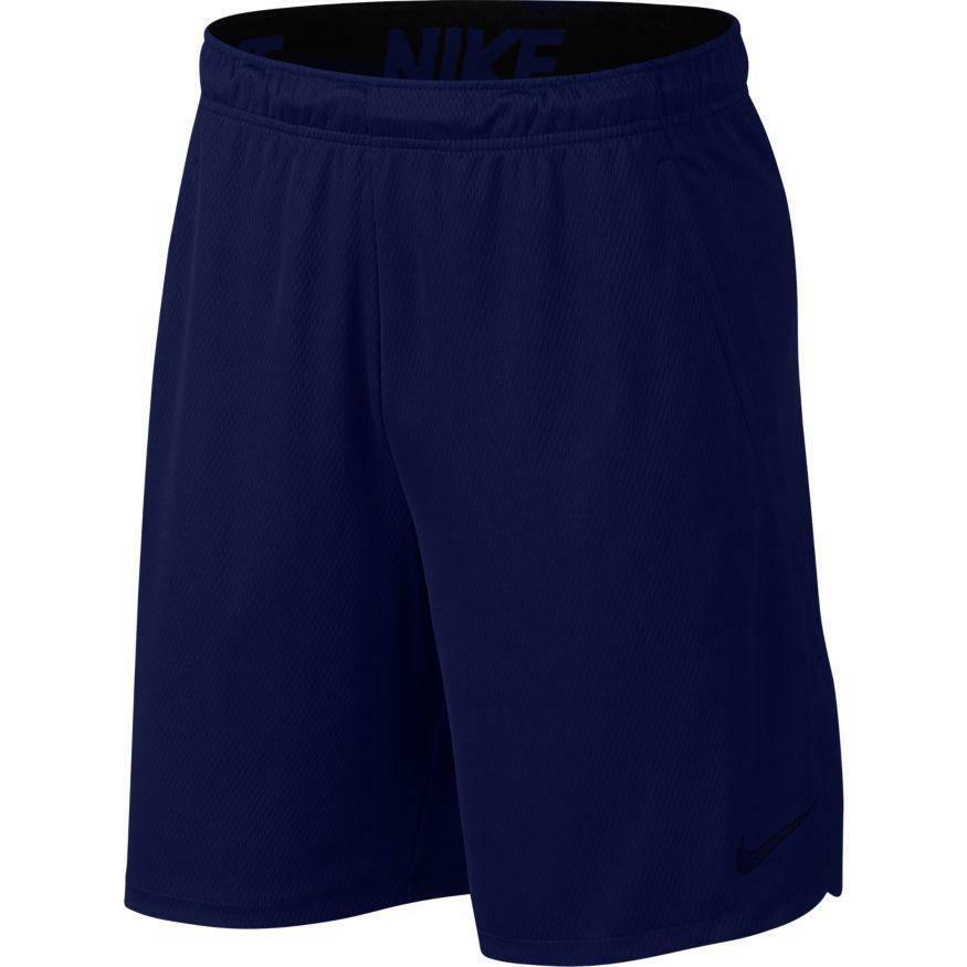 nike nike pantaloncino training dry blu