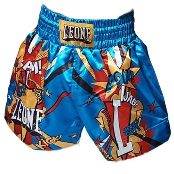 leone leone pantaloncini bambino thai hero azzurro