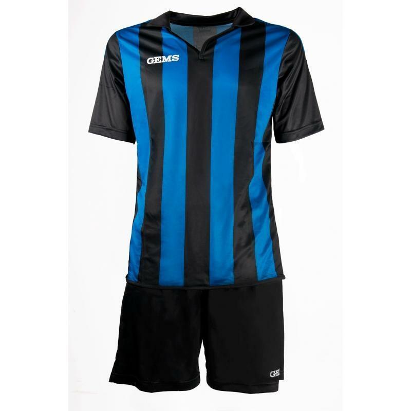 gems gems kit calcio virginia azzurro/nero