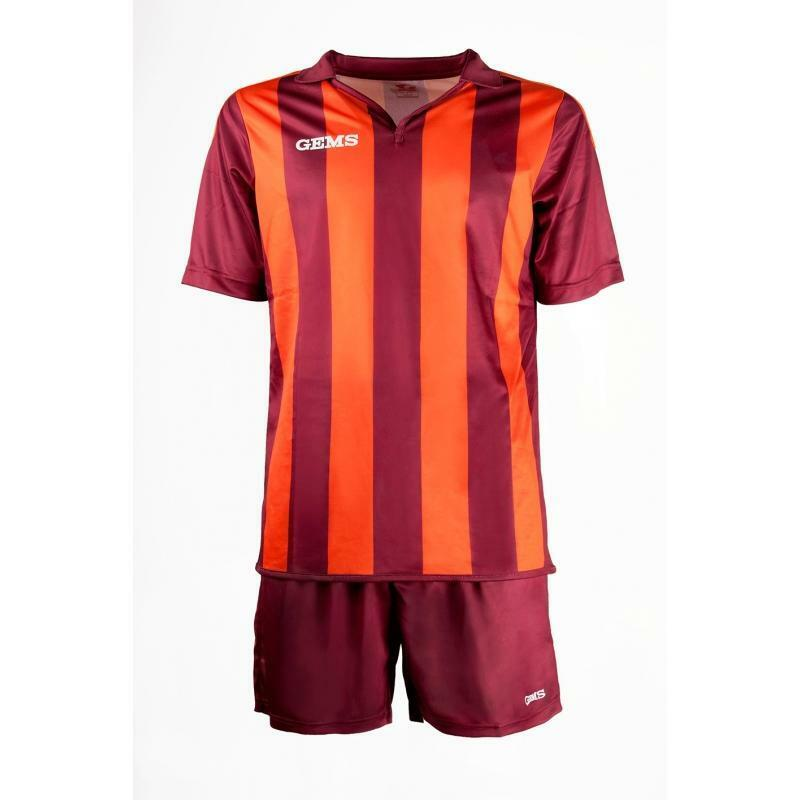 gems gems kit calcio virginia bordeaux / arancio