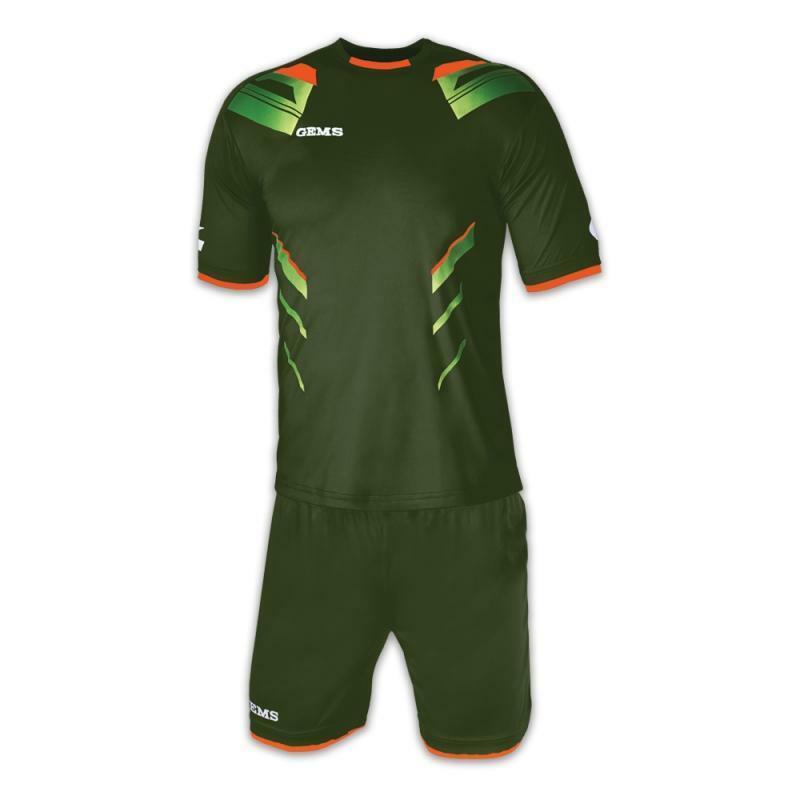 gems gems kit calcio viper verde militare/arancio