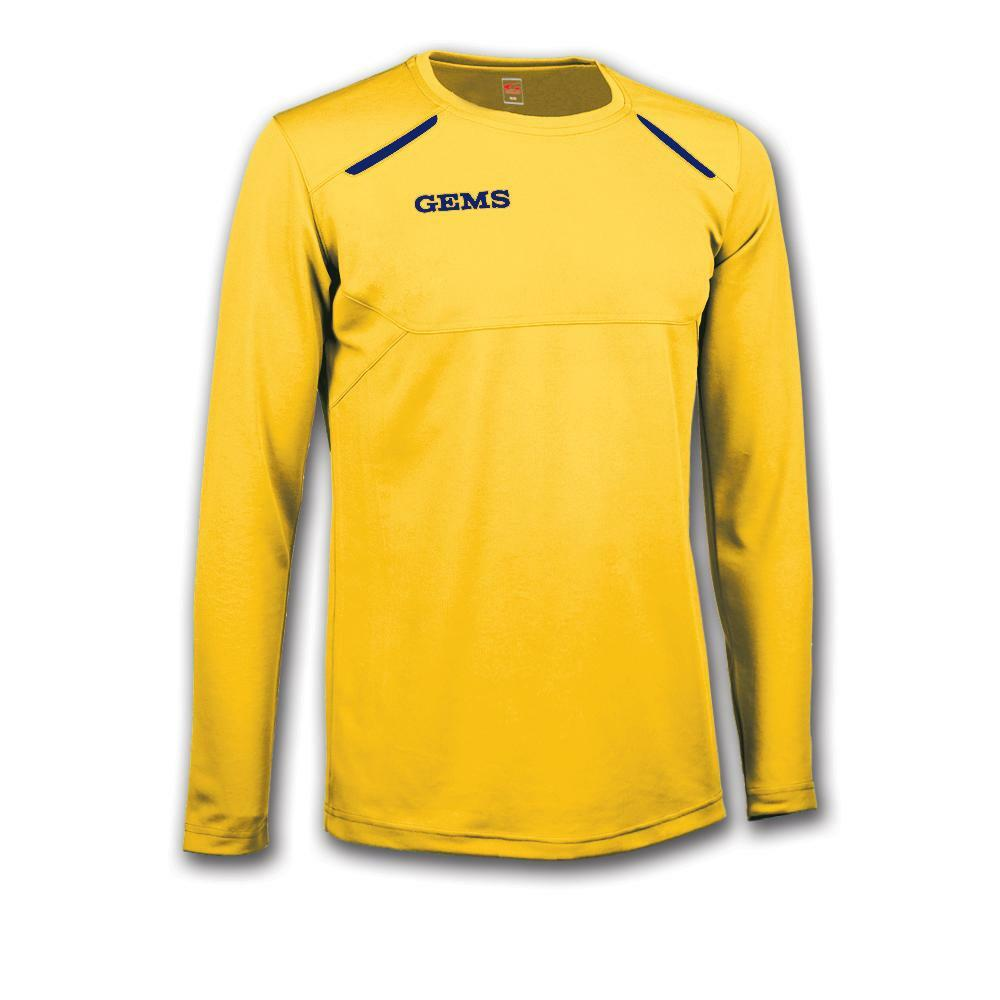gems gems maglia sportiva nord carolina giallo