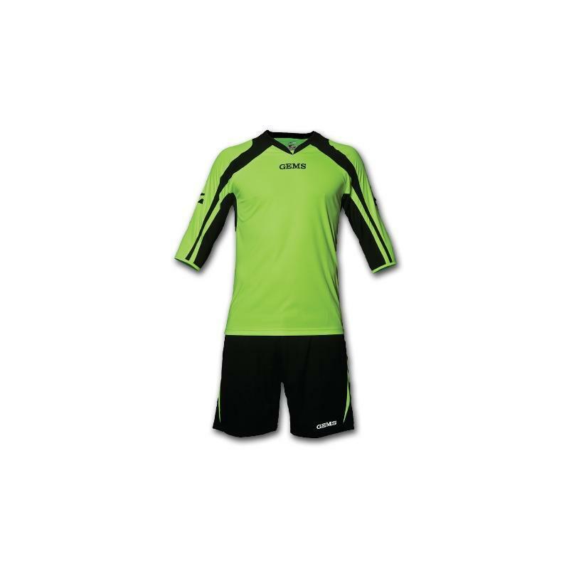 gems gems kit portiere calcio arkansas verde/nero