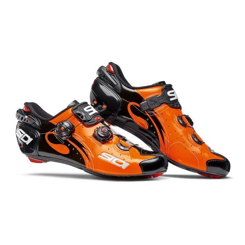 sidi sidi scarpa wire carbon nero/arancio