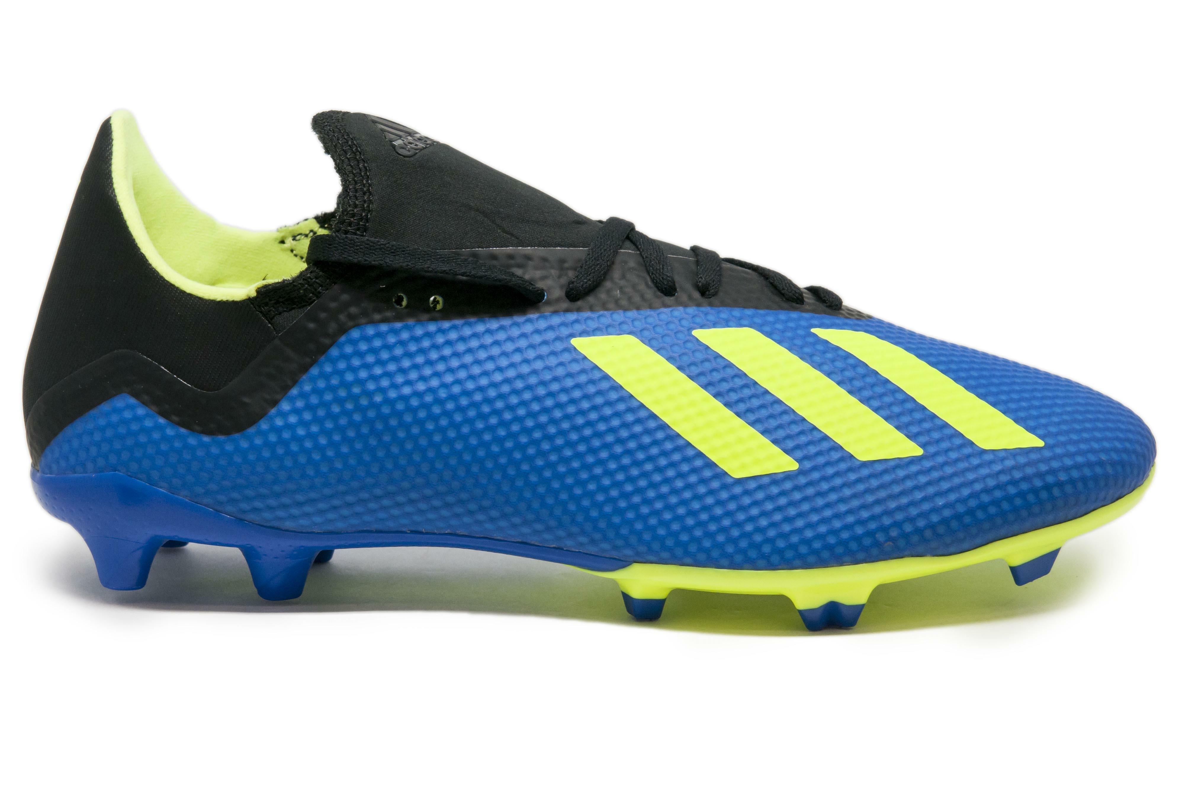 adidas adidas scarpa calcio x 18.3 fg azzurro/giallo fluo