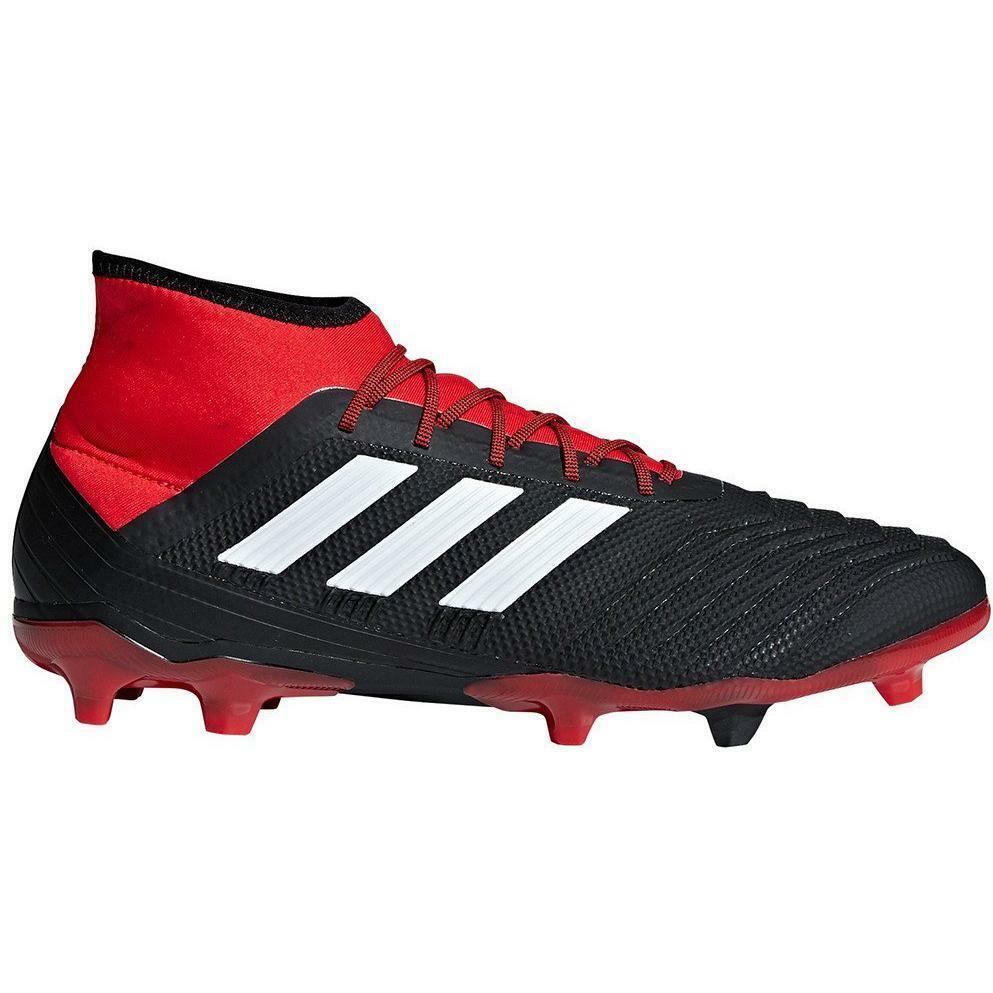 adidas adidas scarpa calcio predator 18.2 fg nero/rosso