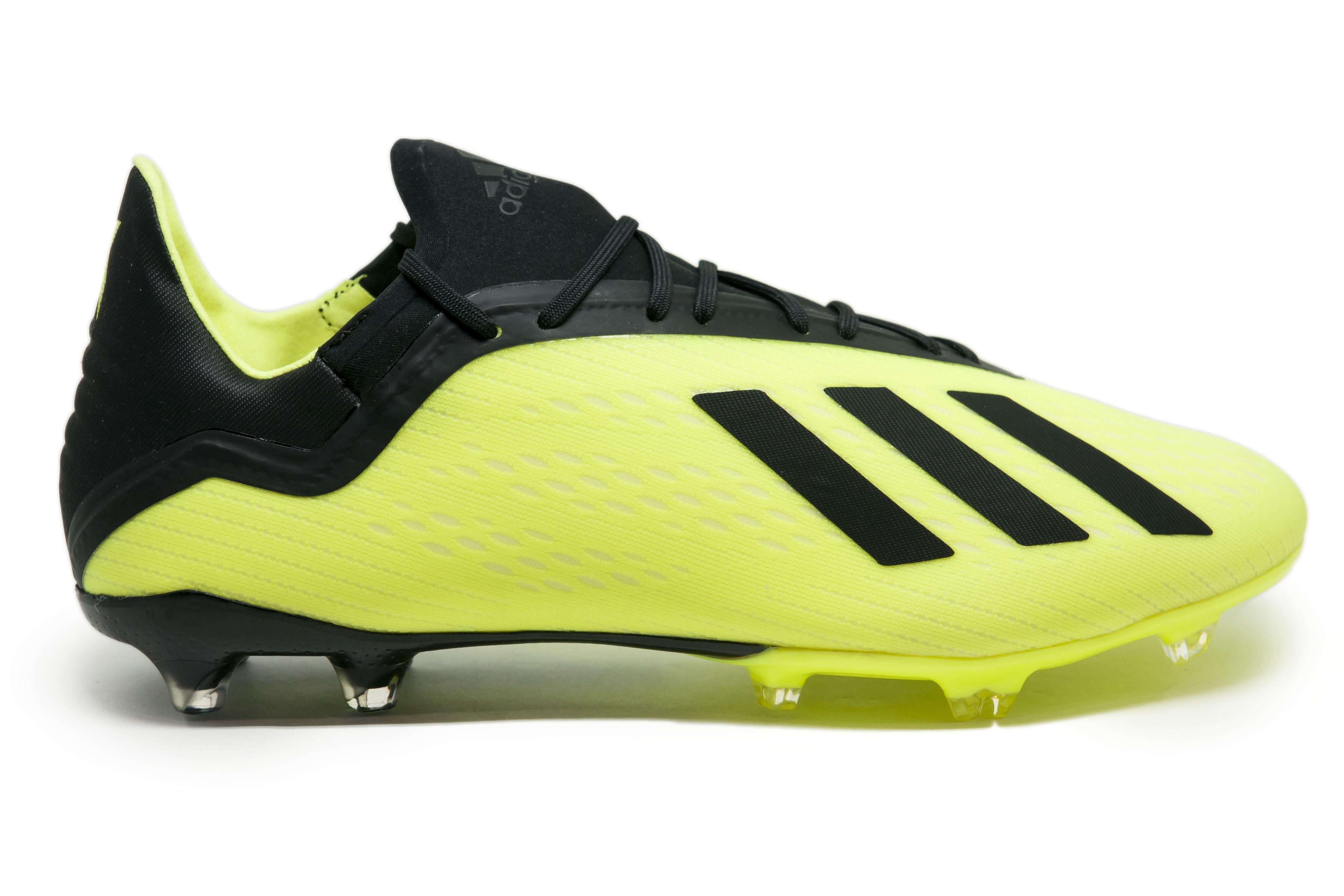 adidas scarpa x 18.2 fg giallo fluo