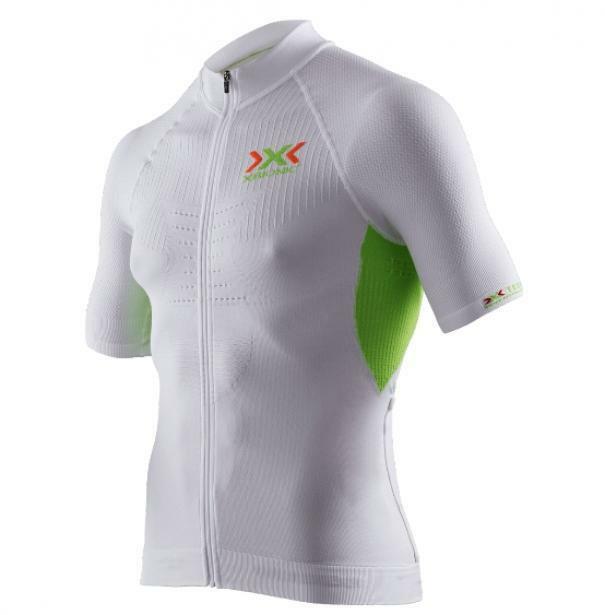x-bionic x-bionic maglia the trick bianco/verde