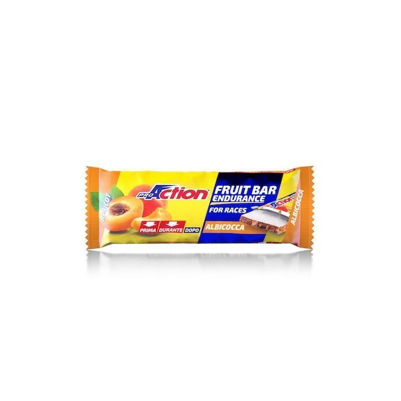 pro action proaction barretta energetica fit fruit bar albicocca