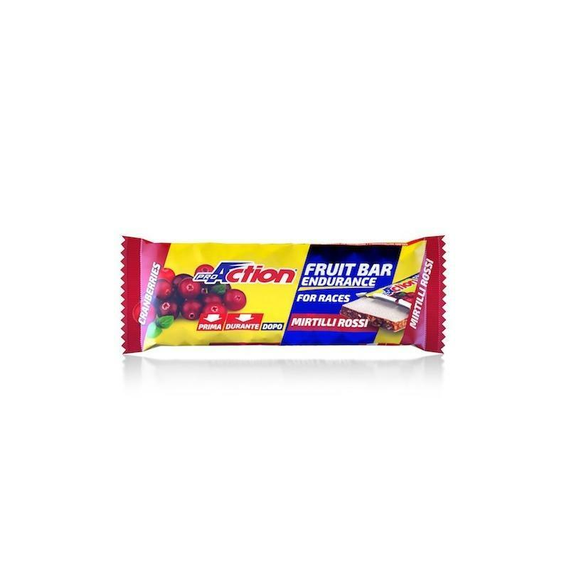 pro action proaction barretta energetica fit fruit bar mirtilli rossi