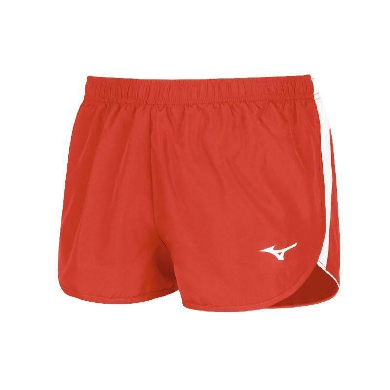 mizuno mizuno pantaloncino running authentic split rosso
