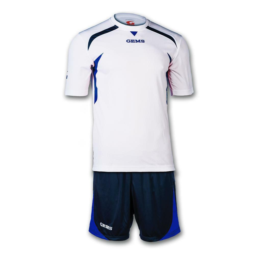 gems gems kit calcio chicago bianco/azzurro