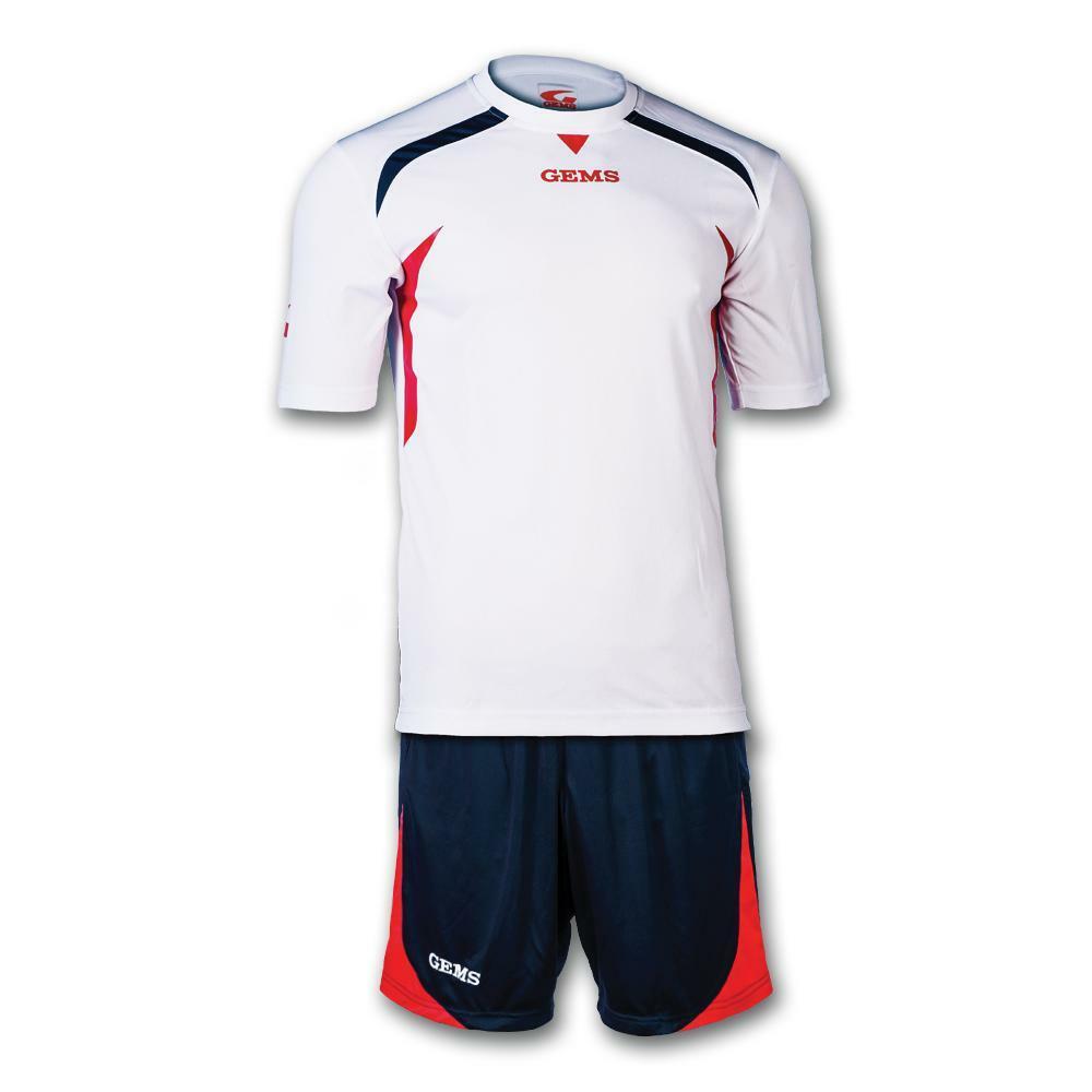 gems gems kit calcio chicago bianco/rosso/blu