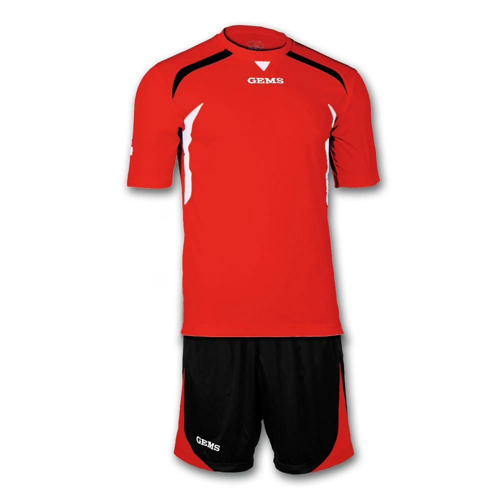 gems gems kit calcio chicago rosso/nero