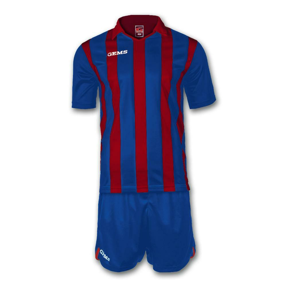gems gems kit calcio detroit rosso/azzurro