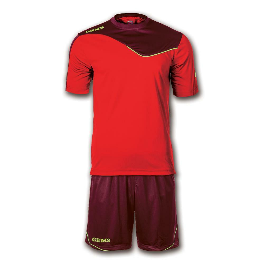 gems gems kit calcio hawaii rosso